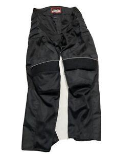 Men's Bilt Motorcycle Pants Size 34 Black Biker Padded