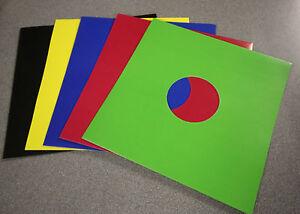 "12"" Colour Vinyl Record Sleeves - Black / White / Mixed Colours Disco Bags Card"