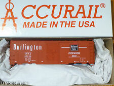 Accurail HO #35109 (Rd #63529) CB&Q (40' AAR Steel Boxcar kit)