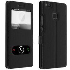 Etui Housse Coque Pochette Double Fenetre Flip Huawei P 8 Lite ( 2017 )