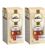 (2) Kerr Regular Mouth Canning Jar Lids With Bands 12 Lids and Bands BPA FREE