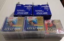 Lote 26 minidiscos JVC DVD-RW 1.4GB 8cm x20 y JVC DVD-R 1.4GB 8cm x6