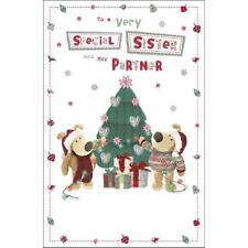 BOOFLE TO A VERY SPECIAL SISTER AND HER PARTNER CHRISTMAS CARD NEW GIFT