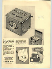 1938 PAPER AD 2 PG Chein Toy Melody Player Musical Instrument Box Window Display