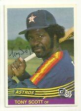 TONY SCOTT 1984 DONRUSS SIGNED # 527 ASTROS