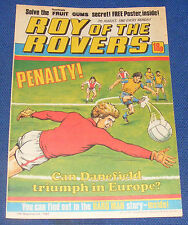 ROY OF THE ROVERS COMIC 7TH AUGUST 1982 ENGLAND SQUAD 1982