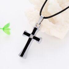 Cross Pendant Black Stainless Steel Men's/Women's Necklace Link