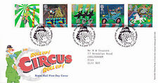 9 APRIL 2002 CIRCUS ROYAL MAIL FIRST DAY COVER BUREAU SHS (x)