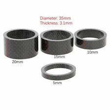 "4* Carbon Fiber Spacer Stem 1-1/8"" Bike Bicycle Headset Washer Kit 5/10/15/20mm"