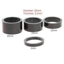 "Carbon Fiber Spacer Stem 1 1/8"" Bike Bicycle Headset Washer 5/10/15/20MM Set Kit"
