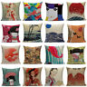 Chair Cushion Cover Pillow Case Japanese National Landscape Home Sofa Decorative