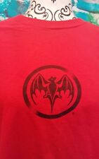 Vintage rock tee shirt Large rare bat authentic logo rum BACARDI collectable