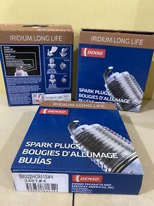 Set of 4 DENSO 3461 SXU22HCR11S Iridium Spark Plugs