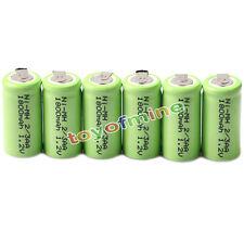 6x Ni-mh 1.2 v 2/3aa 1800mah batería Recargable Ni-mh Pilas Para Teléfono De Juguete
