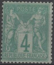 "FRANCE STAMP TIMBRE N° 63 "" TYPE SAGE 4 c VERT "" NEUF xx TTB  J680"
