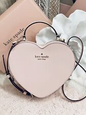 Kate Spade Heart Pink Crossbody Love Shack 3d Leather Valentines Day Bag