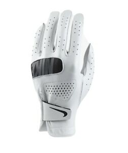Nike Tour MEN'S Golf Glove, RIGHT HAND, White & Black, XLarge