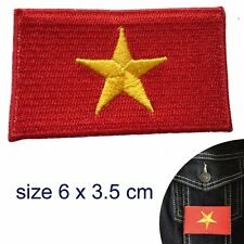 Vietnam flag iron on patch flag cờ đỏ sao vàng Vietnamese embroidery patches