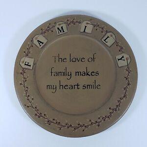 Barbara Lloyd Primitive Decorative Wood Plate Family Pip Berry Design