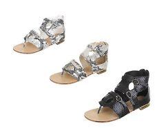 Markenlose Damen-Sandalen & -Badeschuhe mit Blockabsatz aus Synthetik für Kleiner Absatz (Kleiner als 3 cm)