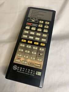 1986 GE Control Central 3 Programmable Remote RRC500 General Electric TELEVISION