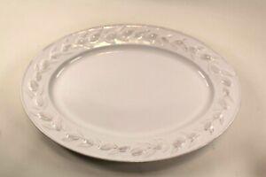 """Martha Stewart Collection Embossed Olive & Leaf Oval Serving Platter 16"""""""
