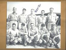 "Charles C D Albury B-29 ""Bockscar"" Co-Pilot Autographed 8x9 Picture WW2 Nagasaki"
