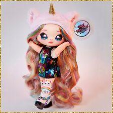 Na Na Na Surprise Britney Sparkles Series 1 Unicorn Plush Rainbow Hair Doll Rare