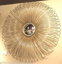 """Dazzling 32"""" Convex SILVER SUNBURST Wall Mirror Modern Contemporary Starburst"""