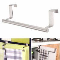 Towel Holder Rack Over Door Cupboard Hanger Bar Hook Bathroom Kitchen Organizer