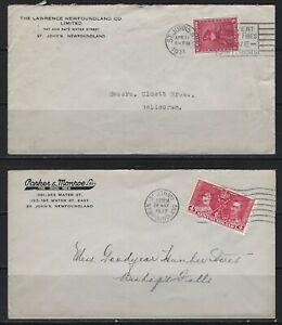CANADA - NEWFOUNDLAND COVERS KING GEORGE VI PRINCESS ELIZABETH CODFISH