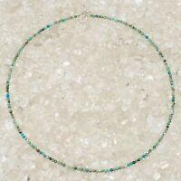 Türkis Halskette, 925er Silber,  Edelsteinhalskette (K1126), Edelsteinschmuck