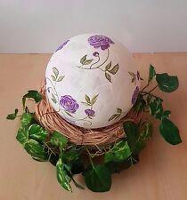♦ Dekokugel Freundschaftskugel Leuchtkugel lila Blumen /95