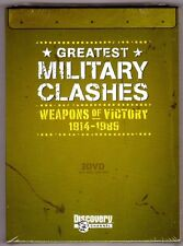 GREATEST MILITARY CLASHES:  WEAPONS OF VICTORY (3 DVDs, WWI/WWII/Cold War) - NEW