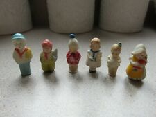Vintage Bisque Frozen Charlotte Penny Dolls Lot of 6  made in Germany &  Japan