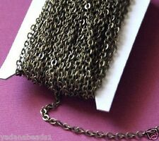 32 ft of antiqued brass flat cable chain, bulk brass chain