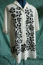 Yarell Vintage Oversized Hawaiian/Tikki Blouse/Shirt UK 12 38 rockabilly white