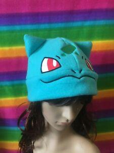 Bulbasaur Plant Pokemon Go Anime Handmade Fleece Character Hat Cap Beanie