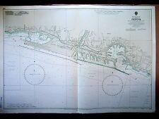 """1971 GENOA - GENOVA ITALY ~ Mediterranean Sea MAP CHART 28"""" x 41"""" D46"""