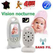 BABYPHONE VIDEO SURVEILLANCE BEBE CAMERA VISION NOCTURNE SANS FIL THERMOMETRE