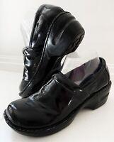 BOC Born Concept Peggy Clogs Nurse Shoes Size 8 Black Patent Slip On Shoes