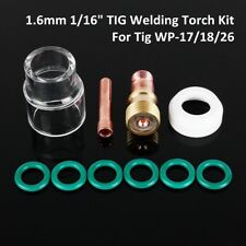 10x 1.6mm TIG Welding Torch Stubby Gas Lens #12 Pyrex Cup Kit Tool For WP-17/18