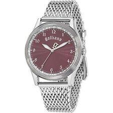 Orologio donna Galliano NOUVEAU R2553104504 bracciale acciaio quadrante bordeaux