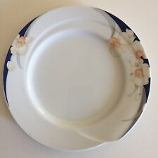 Kyoto Imperial Porcelain White Modern Orchid 20cm Side Plate Made In Japan Rare