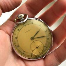 Vintage MOLNIJA CHK-6 Mechanical Rare USSR Pocket Watch Original SERVICED 1948