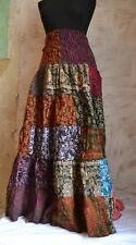 Winter Frill MAXI SKIRT extra long patterned colourful fleece hippy festival