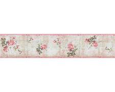 Djooz Tapeten-Bordüre 95665-1 Romantik Vintage Rosen rosa (2.19 Euro pro m)