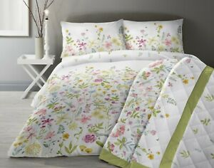 Dreams & Drapes Aimee Floral Reversible Duvet Cover Bedroom Range Multi