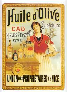 Publicité huile d'olive union des propriétaires de Nice