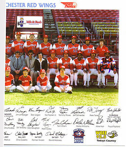 Rochester Red Wings signed auto Floyd Rayford Cal Ripken Bobby Bonner coa sga